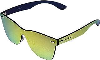Frameless Rimless Sunglasses Wayfarer Style Gold