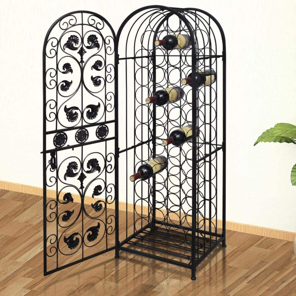 Wine Rack Stand Arched Free-Standing 価格 Hold Metal Floor 商品追加値下げ在庫復活