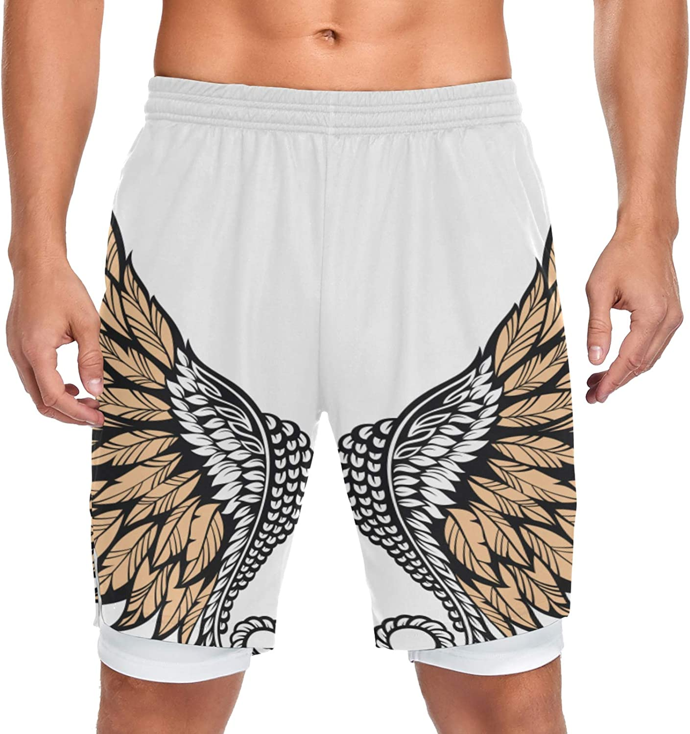 XDCGG Running Shorts Angel Credence Wings Spo White Isolated 2021 Training Men