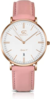 Gelfand & Co. Women's Minimalist Watch Peach Leather Garment 36mm Silver with White Dial