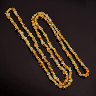 Natural Gem Ethiopian Welo Opal 4 to 10MM Uncut Beads Necklace 21 Inch Full Strand Super Quality Rainbow Electric Fire Unshaped Beads
