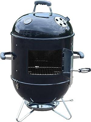 ALEKO Vertical Portable BBQ Smoker Iron Grill - 18 inches - Black