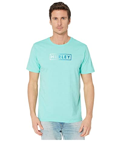 Hurley Boxed Gradient Short Sleeve Tee (Aurora Green Heather) Men