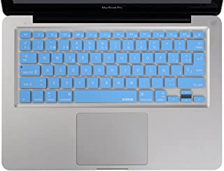 XSKN Spanish Keyboard Skin Silicone Rubber Cover for MacBook Air 13inch, MacBook Pro 13, 15 inch (Blue)