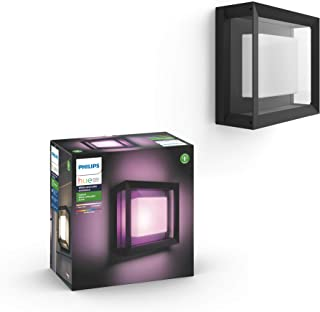Philips Hue Econic Outdoor White & Color Wall & Ceiling Light Fixture (Hue Hub Required, Works with Alexa, Apple Homekit &...