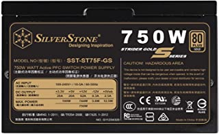 SilverStone Technology 750W Computer Power Supply PSU Fully Modular with 80 Plus Gold & 140mm Design Power Supply (SST-ST7...