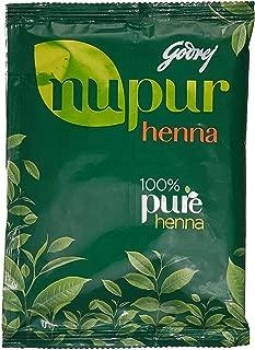 Godrej Nupur Mehendi Henna Powder 9 Herbs Blend, 140-grams(2 Pack)