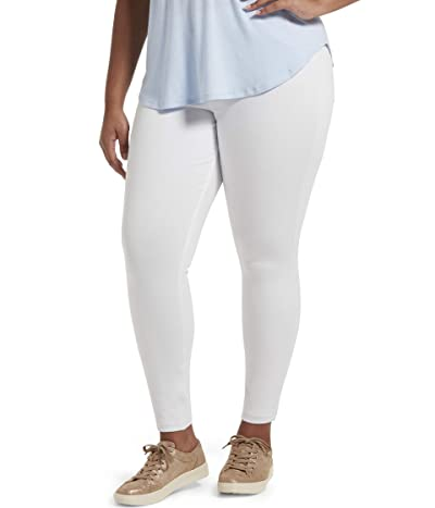 HUE Plus Size High-Waist Ultra Soft Denim Leggings (White) Women