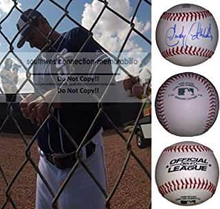Andy Ashby San Diego Padres Autographed Hand Signed Baseball with Exact Proof Photo of Andy Signing and COA, Philadelphia Phillies, Los Angeles Dodgers, Colorado Rockies, Atlanta Braves