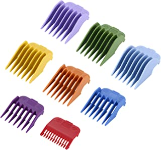 """Cosyonall 8 Sets 8 Color Guide Combs Fit for Clipper-Blade Width 38.5mm/Length 45.5mm–8 Cutting Lengths from 1/8""""to 1""""(3-2..."""