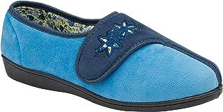 Dunlop Ladies Womens Slippers Slip On Hook & Loop Fastening Memory Foam Size 3-8
