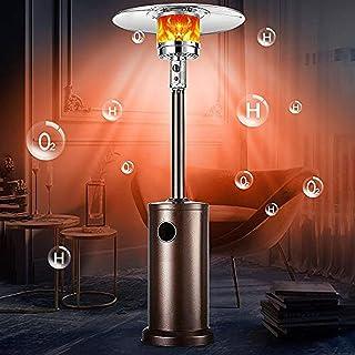 DedSecQAQ Outdoor Patio Heater, Electric Heater, Freestanding Indoor Heater for Garden, Outdoor/Indoor, Quiet Operation, D...