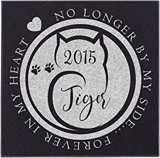 Personalized Pet Memorial Stone - Granite Cat Grave Marker | 3 Size Options |Sympathy Poem, Loss of Cat Gift, Indoor - Outdoor Tombstone Headstone - Cat Grave Marker w/Pet Name and Dates