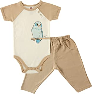Touched by Nature Baby Girls' Organic Bodysuit and Pant Set