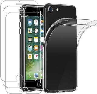 ivoler Skal Kompatibelt med iPhone SE 2020 / SE 2/iPhone 8/7/iPhone 6S / 6 + 3-pack Skärmskydd i Härdat Glas, TPU silikon ...