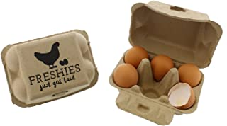 Rural365 Chicken Egg Cartons - Biodegradable Egg Carton 6 Cell Egg Holders, Farm Freshies Empty Egg Cartons, 20 Pack