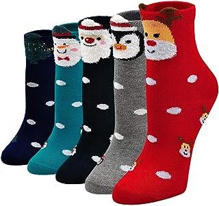 PUTUO Calcetines Divertidos Niña Calcetines de Animales, Calcetines Niñas Invierno Calcetines Navidad Niña Calcetines de A...