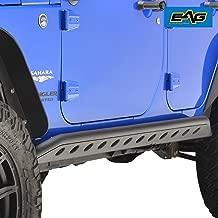 EAG Tubular Side Armor Rocker Guard Rock Sliders Fit for 07-18 Jeep Wrangler JK 4 Door