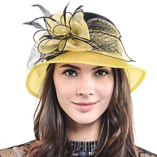 HISSHE Cloche Oaks Church Dress Bowler Derby Wedding Hat Party S015