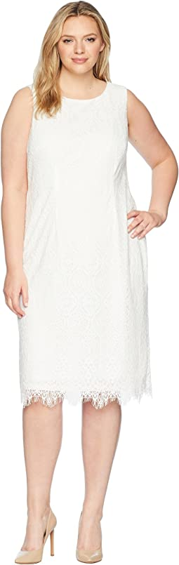 Plus Size Scarlett Lace Midi Sheath