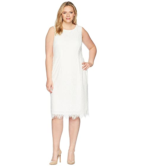 Adrianna Papell Plus Size Scarlett Lace Midi Sheath At Zappos