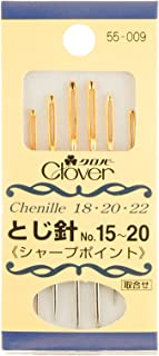 Clover とじ針セット シャープポイント 6本入り 55-009