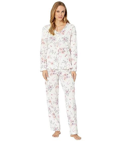 4c16b8430b Carole Hochman Soft Jersey Long Sleeve Pajama Set at Zappos.com
