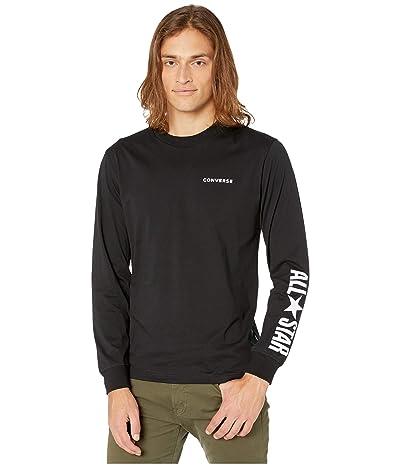 Converse All Star Long Sleeve Cotton T-Shirt (Converse Black) Men
