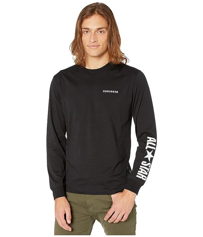 Converse  All Star Long Sleeve Cotton T-Shirt ( Black) Mens T Shirt