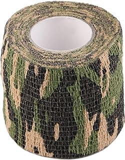 healthwen Rollo de Tiro de Caza para Acampar Hombres Ejército Cinta Adhesiva de Camuflaje Envoltura sigilosa