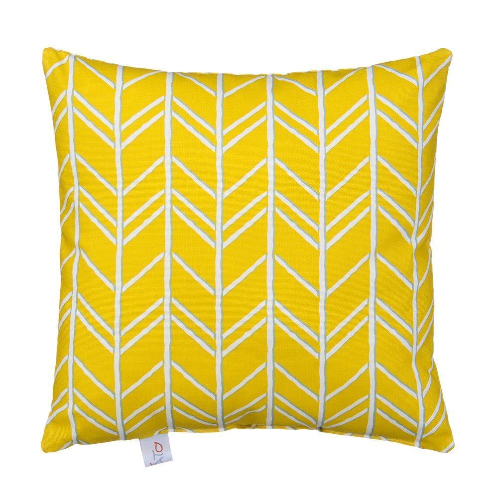 Glenna Jean Happy Camper Pillow, Yellow