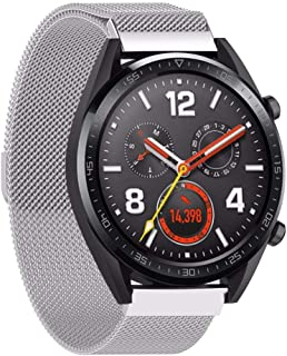 Huawei Watch GT Replacement Strap Magnetic Milanese Watch Wrist Band 22mm (Silver)