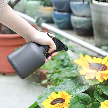 T4U 1.4L Watering Can with Plant Mister Set, Modern Long Spout Water can for Indoor Outdoor Gardening, Plastic Waterer Pot Sp