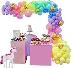 Unicorn Balloon Garland Arch Kit 16ft Long Pastel Rainbow Balloons Birthday Party Centerpiece Decorations for Girls Kids