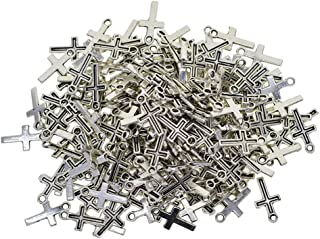 200 Pieces Cross Tibetan Silver DIY Charms Pendant for Necklace Bracelet Wedding DIY Craft Making Accessory