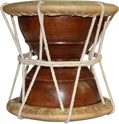 Mangalam Hand Percussion Kirtan Deru Damru Handmade Indian Musical Instrument