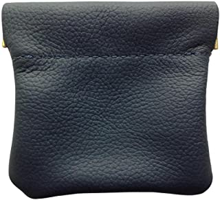 North Star Men's Leather Squeeze Coin Pouch Change Holder