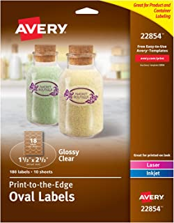 Avery Oval Labels for Laser & Inkjet Printers, 1.5