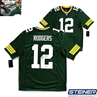 Aaron Rodgers Autographed/Signed NFL Green Bay Packers Green Nike Limited Jersey
