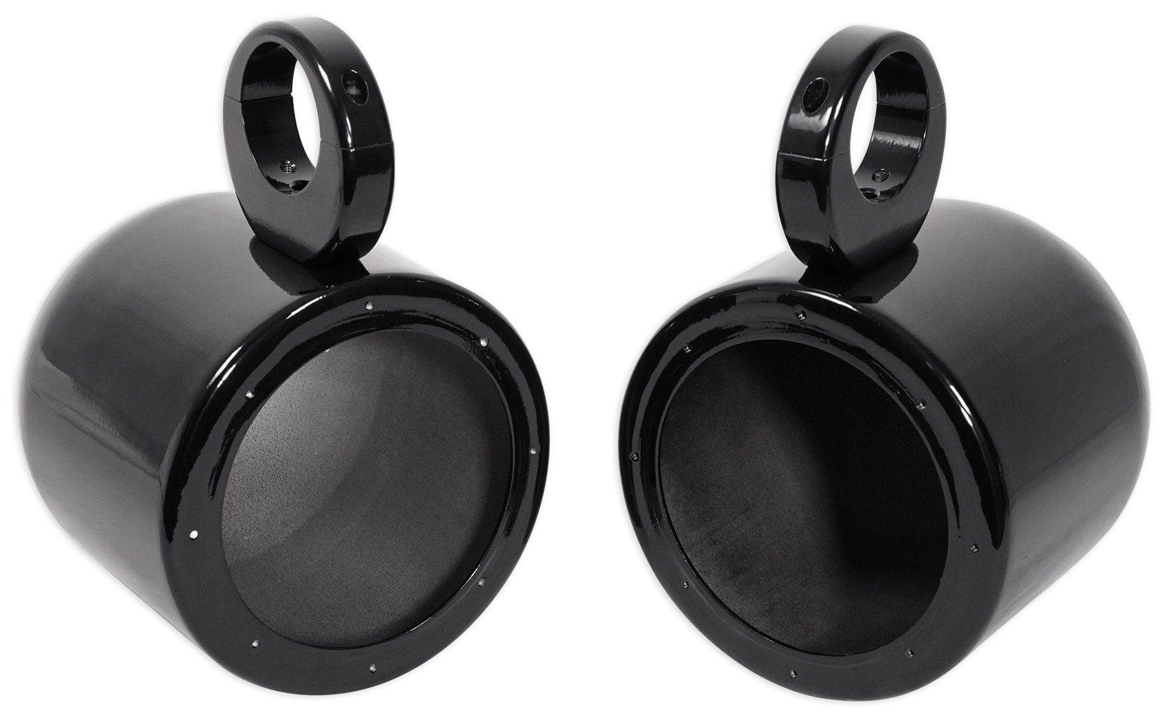Black 1 Pair 2 Way IP44 Waterproof Weather Resistant Outdoor Audio Stereo Sound System with 200 Watt Power and Poly Mica Cone and Butyl Rubber Surround 6.5 Inch Dual Marine Speakers Certified Refurbished PLMRB65