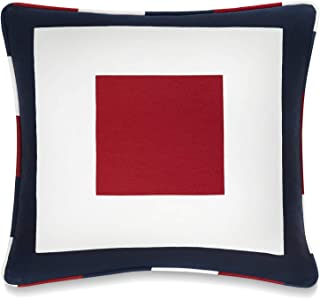 Best Tommy Hilfiger Sailing Decorative Pillow, 18x18 inch, Red/White Review