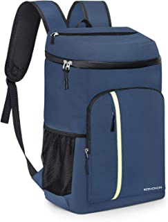 SEEHONOR Insulated Cooler Backpack Leakproof Soft Cooler Bag Lightweight Backpack Cooler for Lunch Picnic Hiking Camping Beach Park Day Trips, 30 Cans