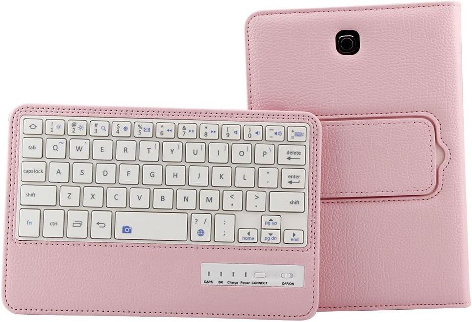 Lrufodya Pu Leather Keyboard Case for Samsung Galaxy Tab S2 8.0