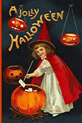 A Jolly Hallowe'en: Vintage Journals by Amybug's Attic : Vintage Halloween Cute Red Witch Hat Cape White Dress with Magic Wand Letters Jack O'Lanterns ... Postcard Ephemera Notebook Journal Diary Paperback