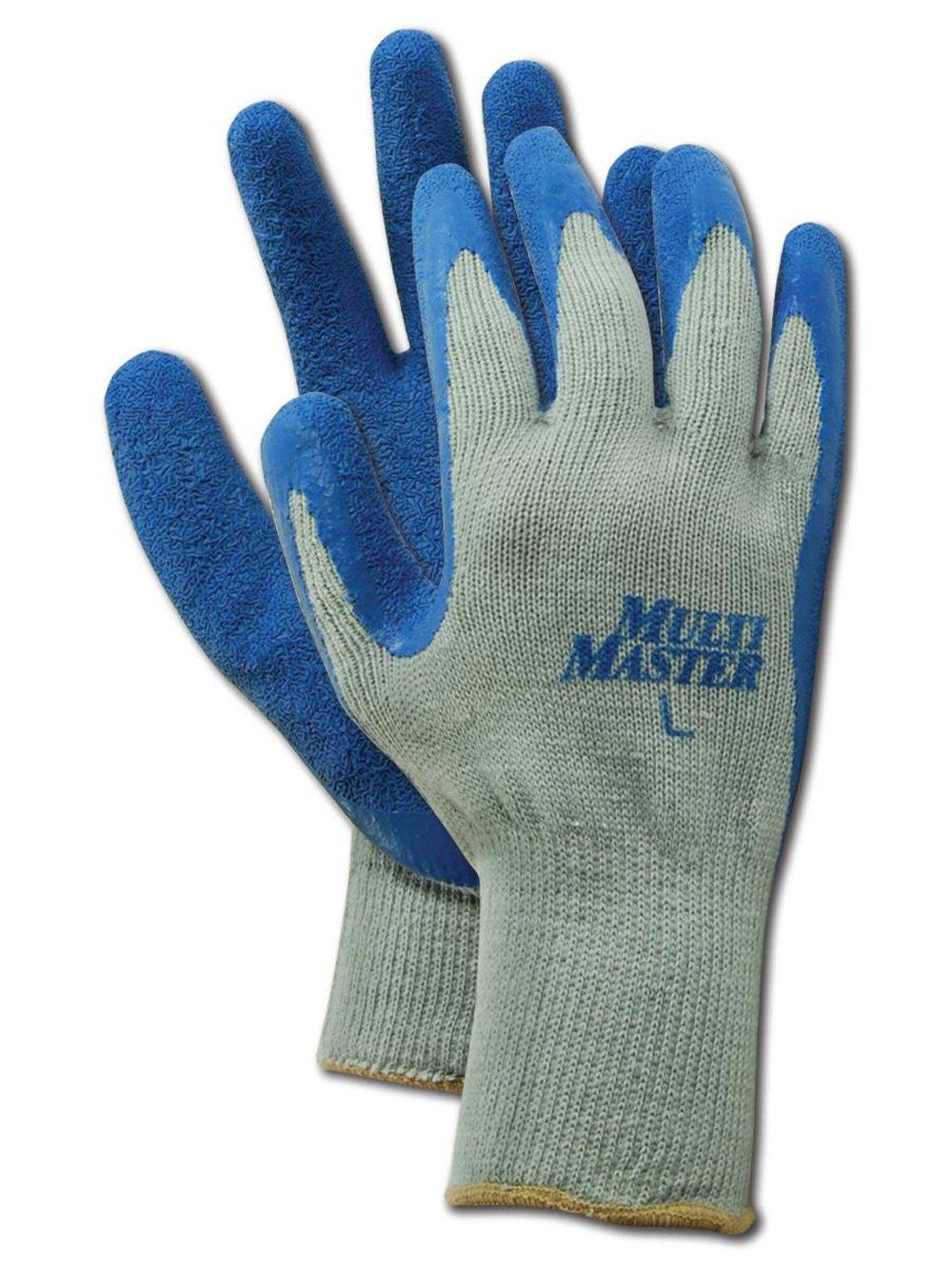 MAGID MultiMaster Popular product 9529 Cotton Polyester C Atlanta Mall Blue Glove Palm Latex