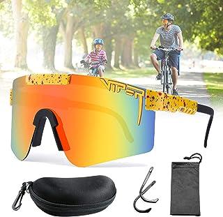 CWWHY Gafas de Sol, Gafas de Sol Originales, Gafas Deportivas al Aire Libre, Gafas de Sol de Ciclismo a Prueba de Viento, Protección Ocular con Montura Tr90 UV400, para Mujeres y Hombres