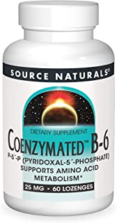Source Naturals Coenzymated B-6 25mg P-5 Pyridoxal-5 Phosphate Fast-Acting, Quick Dissolve Vitamin Supports Amino Acid Met...