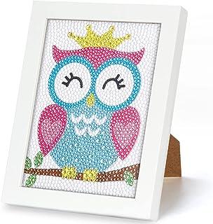 Wishstar Diamant Painting Enfant, DIY Peinture Numero Fille, Diamond Cadre Mosaïque Broderie Diamant d'art Kit de Peinture...