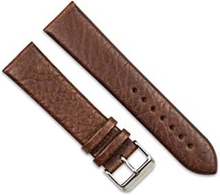 Distressed Leather Watch Band - Brown - 20mm