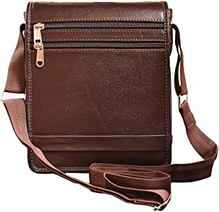 ABYS Genuine Leather Handbags, Purses & Clutches/Sling & Cross-Body Bags For Women And Girl's(Coffee Brown)